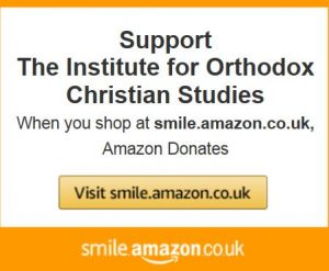 Text reading: Support the Institute for Orthodox Christian Studies when you shop at smile.amazon.co.uk.